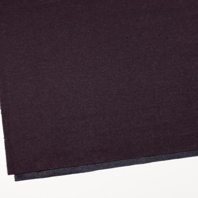 ウール&ナイロン混×無地(プラム)×かわり編み イメージ2