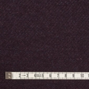 ウール&ナイロン混×無地(プラム)×かわり編み サムネイル4