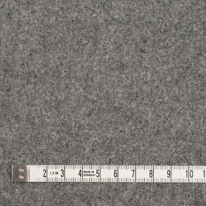ウール&ナイロン×無地(グレー)×メルトン イメージ4