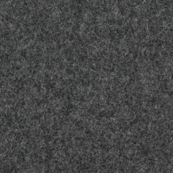 ウール&ナイロン×無地(チャコールグレー)×フラノ(フランネル)