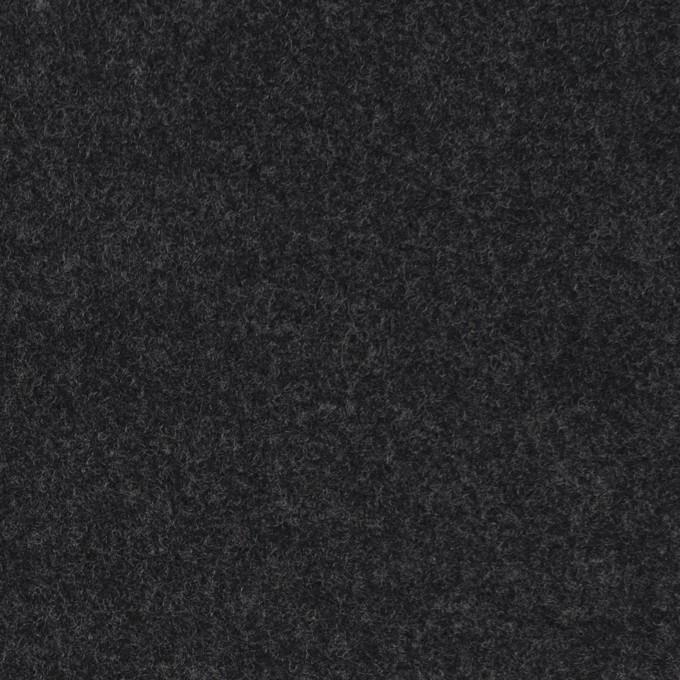 ウール×無地(チャコール)×メルトン イメージ1