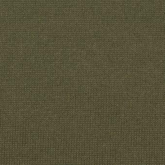 コットン×無地(カーキグリーン)×天竺ニット_全6色