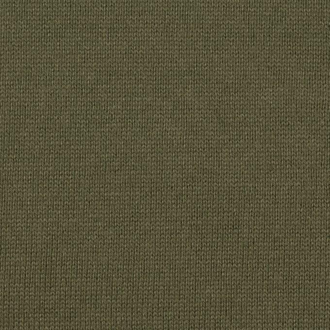 コットン×無地(カーキグリーン)×天竺ニット_全6色 イメージ1