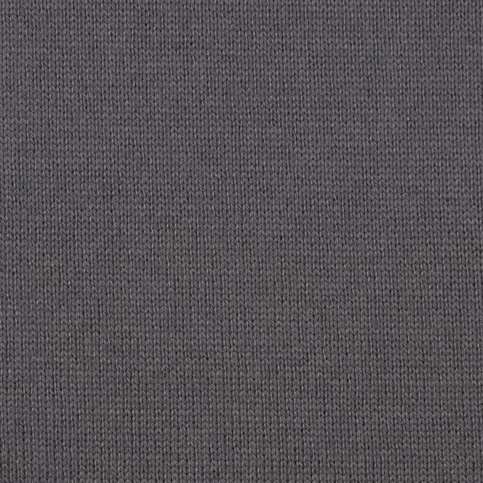 コットン×無地(スチールグレー)×天竺ニット_全6色 イメージ1