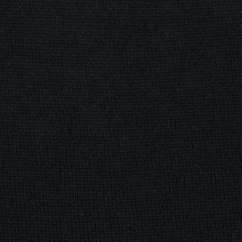 コットン×無地(ブラック)×天竺ニット_全6色