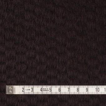 ウール&ナイロン×無地(チョコレート)×シャギー_全2色 サムネイル4