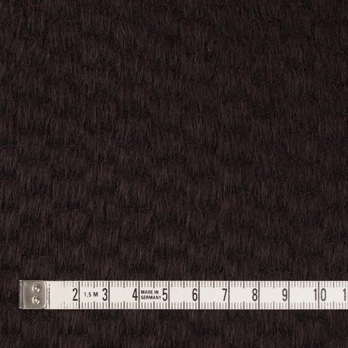 ウール&ナイロン×無地(チョコレート)×シャギー_全2色 イメージ4
