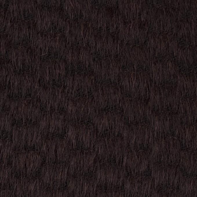 ウール&ナイロン×無地(チョコレート)×シャギー_全2色 イメージ1