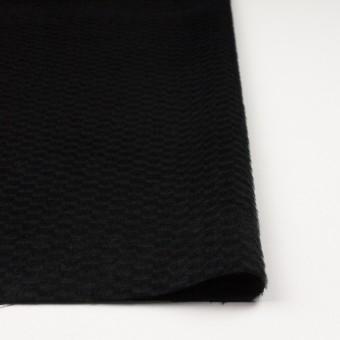 ウール&ナイロン×無地(ブラック)×シャギー_全2色 サムネイル3