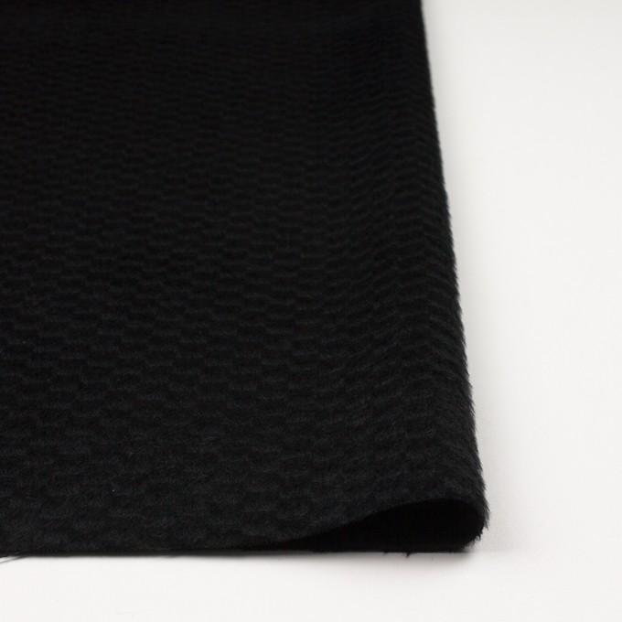 ウール&ナイロン×無地(ブラック)×シャギー_全2色 イメージ3