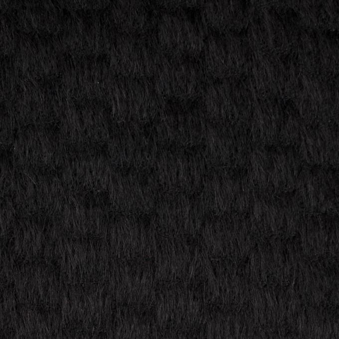ウール&ナイロン×無地(ブラック)×シャギー_全2色 イメージ1