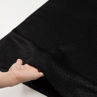 ウール&ナイロン×無地(ブラック)×シャギー_全2色 サムネイル5