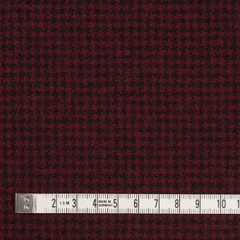 ウール×チェック(ガーネット&ブラック)×千鳥格子 サムネイル4