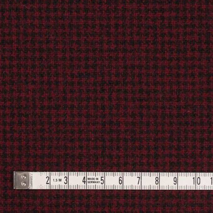 ウール×チェック(ガーネット&ブラック)×千鳥格子 イメージ4