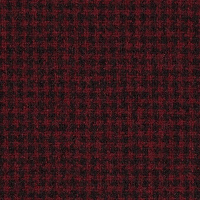 ウール×チェック(ガーネット&ブラック)×千鳥格子 イメージ1