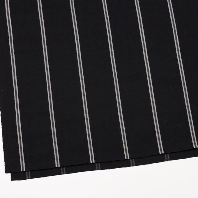 ウール&コットン×ストライプ(グレー&ブラック)×サージ イメージ2