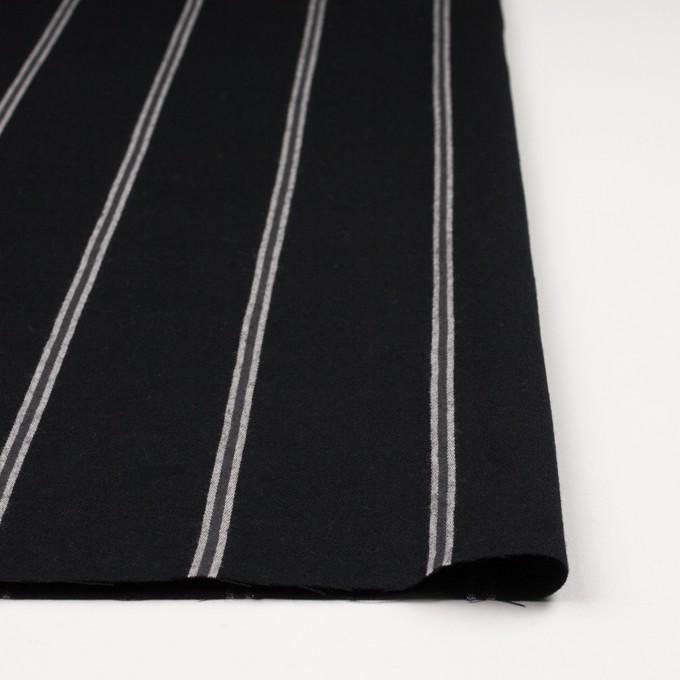 ウール&コットン×ストライプ(グレー&ブラック)×サージ イメージ3