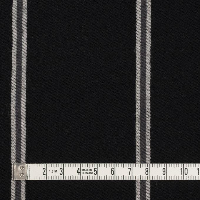ウール&コットン×ストライプ(グレー&ブラック)×サージ イメージ4