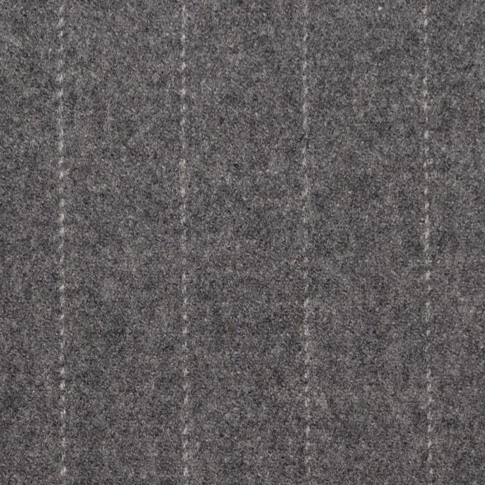 ウール×ストライプ(グレー)×サージ イメージ1