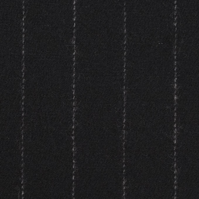 ウール×ストライプ(ブラック)×サージ イメージ1