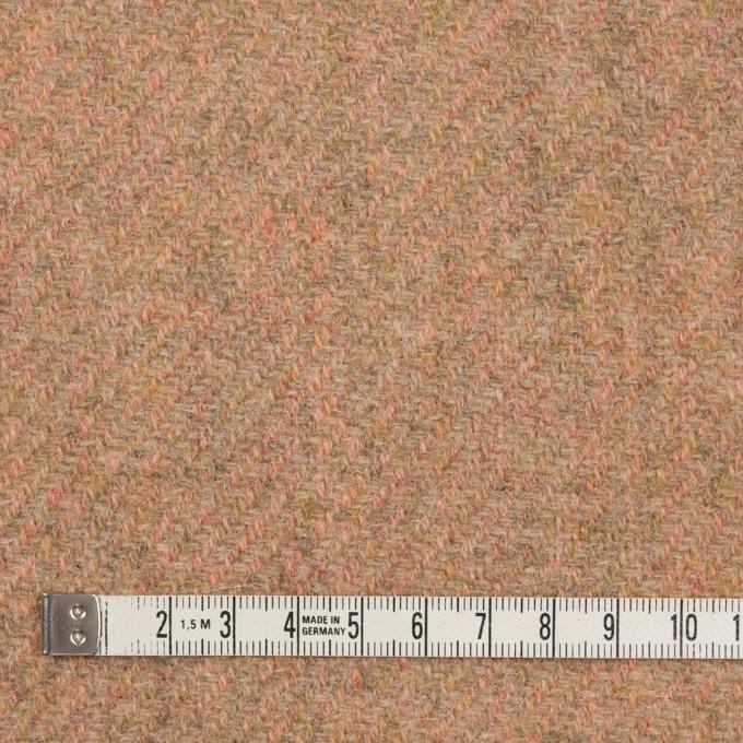 ウール×無地(アプリコット)×かわり織 イメージ4