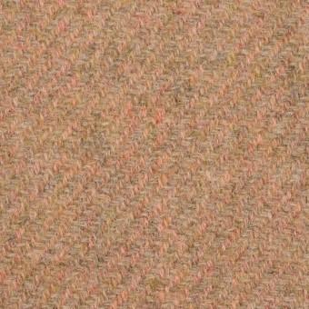 ウール×無地(アプリコット)×かわり織 サムネイル1