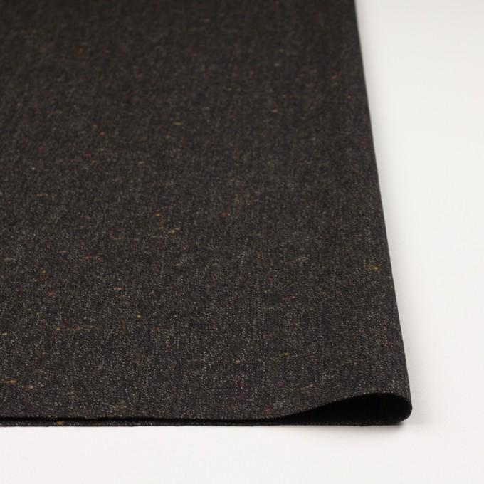 ウール&レーヨン混×無地(ダークブラウン)×ツイードストレッチ イメージ3