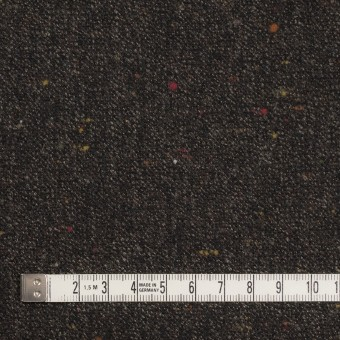 ウール&レーヨン混×無地(ダークブラウン)×ツイードストレッチ サムネイル4