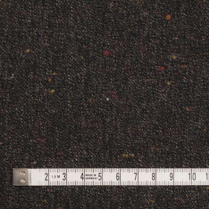 ウール&レーヨン混×無地(ダークブラウン)×ツイードストレッチ イメージ4