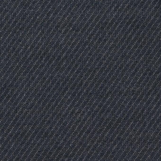 コットン×無地(アッシュネイビー)×かわり織 イメージ1