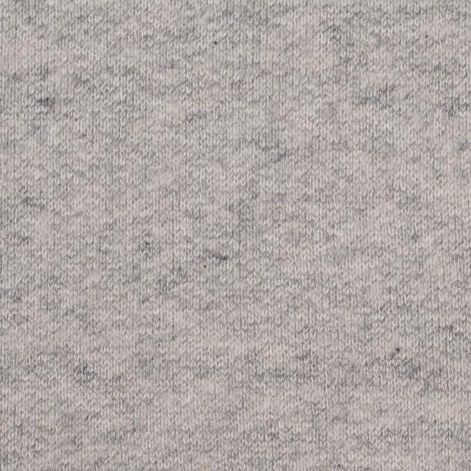 コットン×無地(杢グレー)×裏毛ニット(裏面起毛) イメージ1