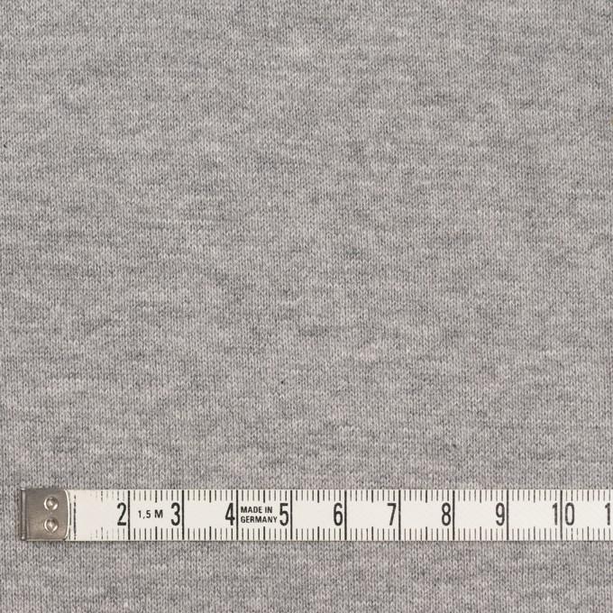 コットン×無地(杢グレー)×裏毛ニット(裏面起毛) イメージ4