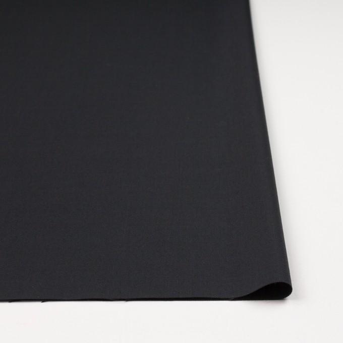 ウール&ポリウレタン×無地(チャコールブラック)×サージストレッチ イメージ3