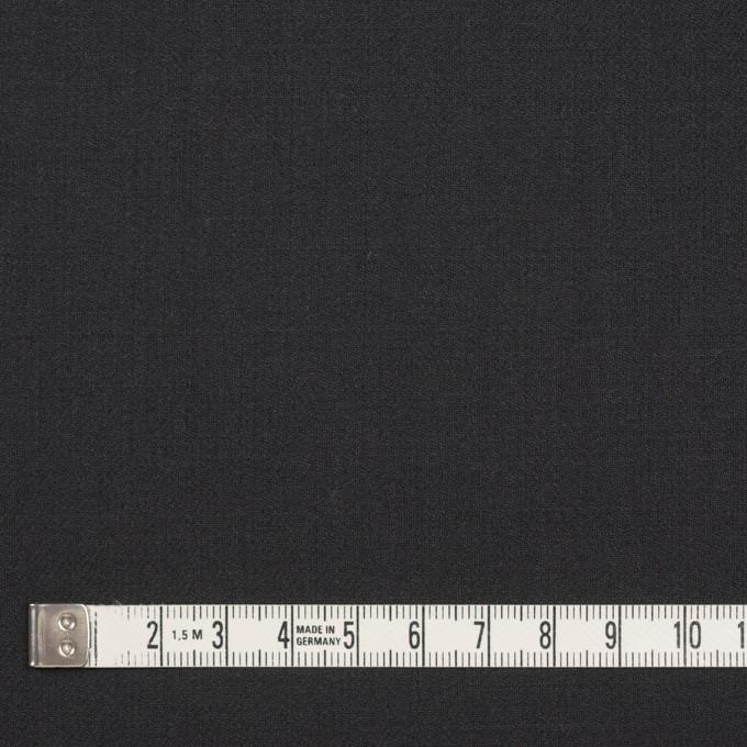 ウール&ポリウレタン×無地(チャコールブラック)×サージストレッチ イメージ4