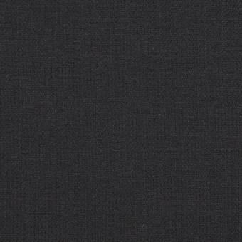 ウール&ポリウレタン×無地(チャコールブラック)×サージストレッチ