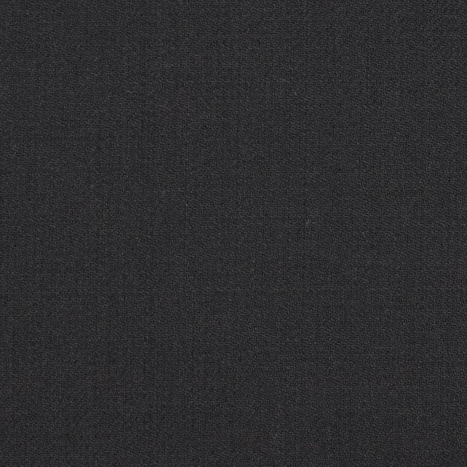 ウール&ポリウレタン×無地(チャコールブラック)×サージストレッチ イメージ1