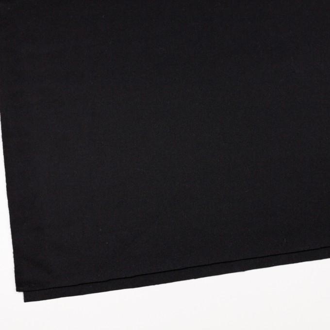 ウール×無地(ブラック)×フラノ(フランネル) イメージ2