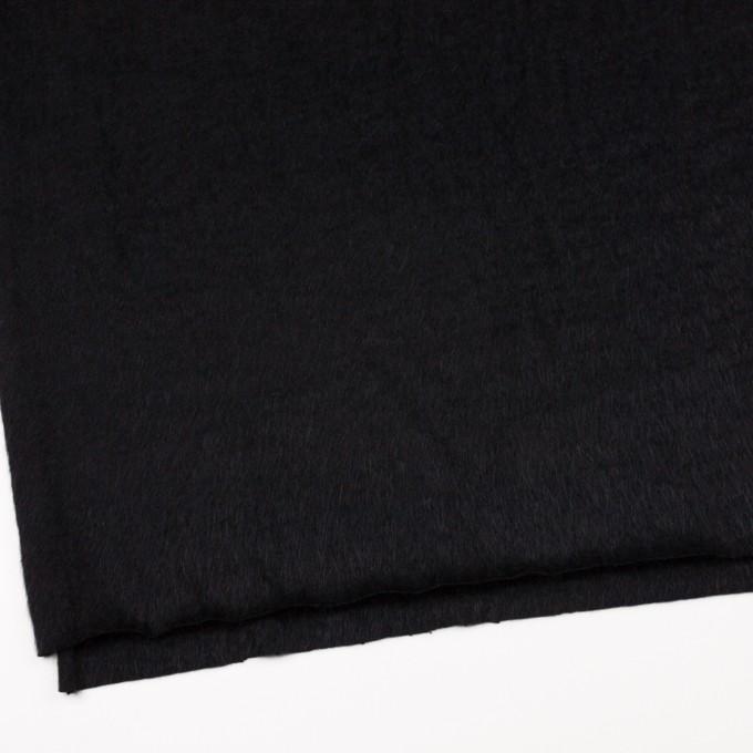 アンゴラ×無地(ブラック)×シャギーニット イメージ2