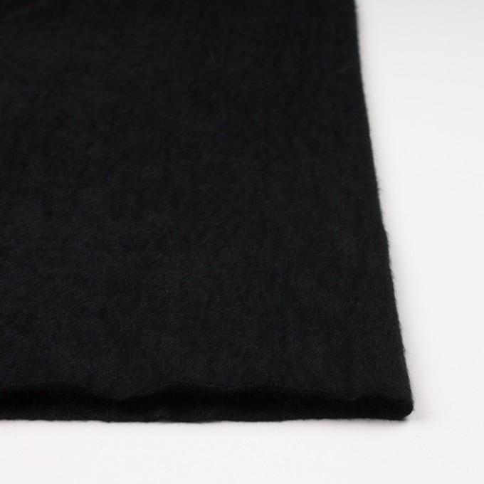 アンゴラ×無地(ブラック)×シャギーニット イメージ3