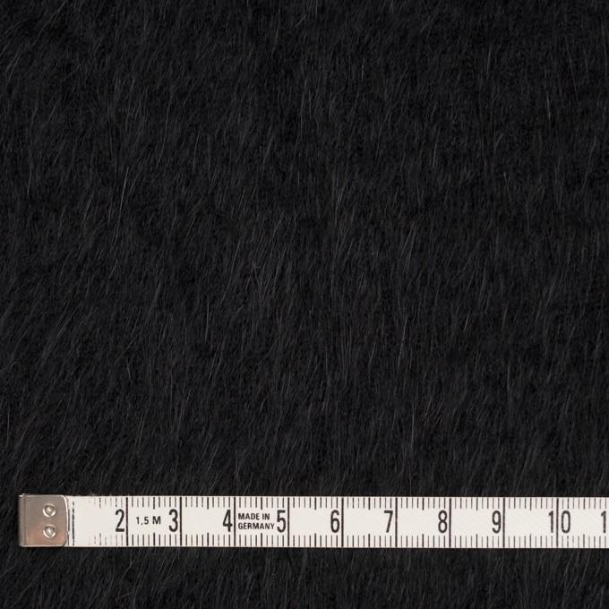 アンゴラ×無地(ブラック)×シャギーニット イメージ4