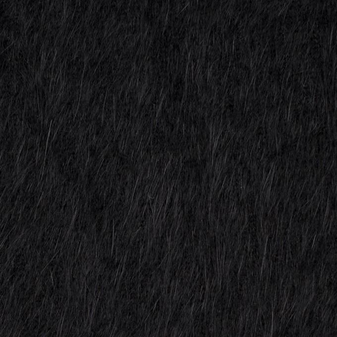 アンゴラ×無地(ブラック)×シャギーニット イメージ1