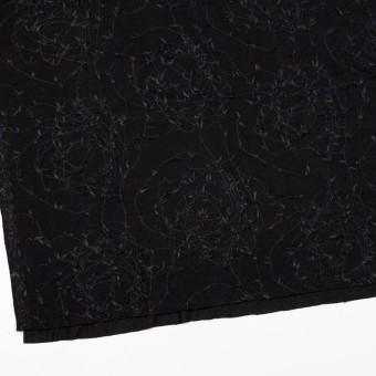 アセテート&シルク混×アイビー(ブラック)×ニット刺繍 サムネイル2