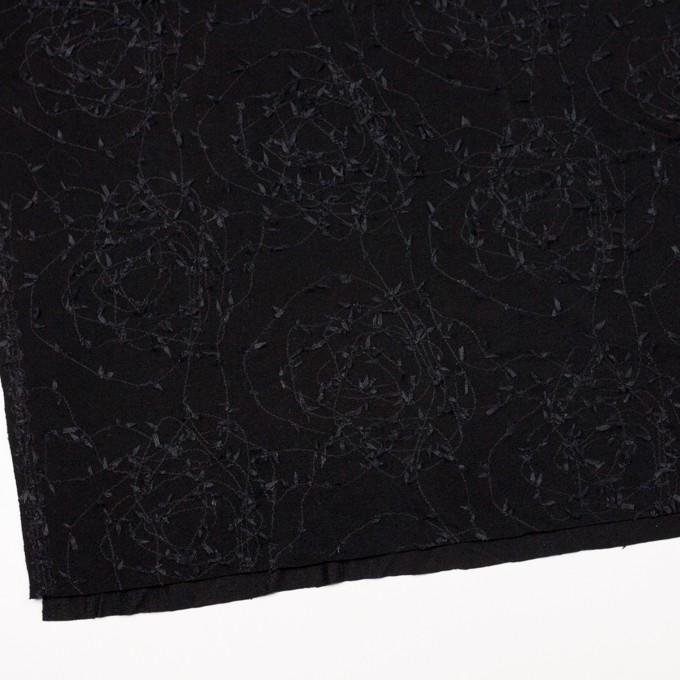 アセテート&シルク混×アイビー(ブラック)×ニット刺繍 イメージ2