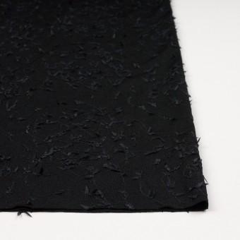 アセテート&シルク混×アイビー(ブラック)×ニット刺繍 サムネイル3