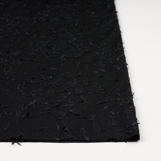 アセテート&シルク混×アイビー(ブラック)×ニット刺繍 イメージ3