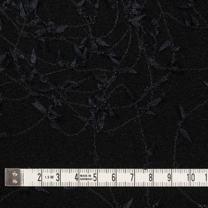 アセテート&シルク混×アイビー(ブラック)×ニット刺繍 イメージ4