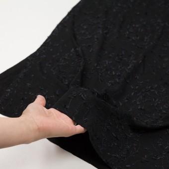 アセテート&シルク混×アイビー(ブラック)×ニット刺繍 サムネイル5