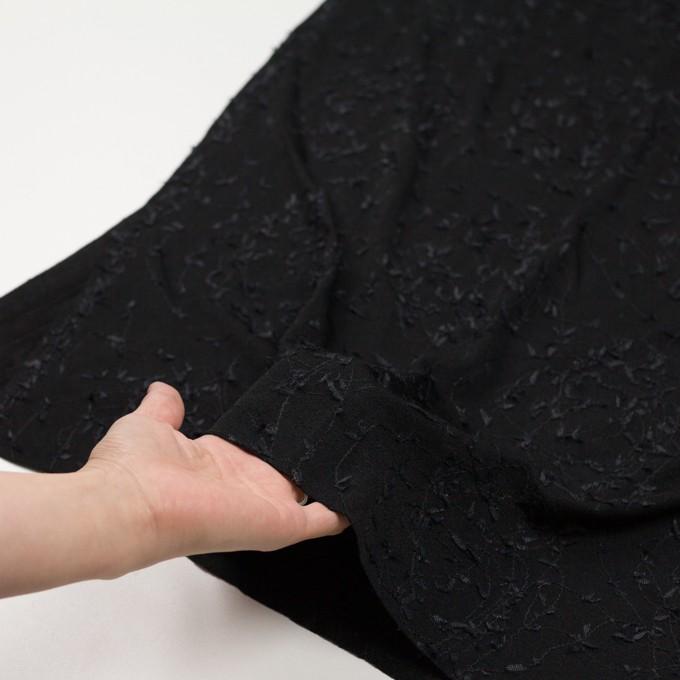 アセテート&シルク混×アイビー(ブラック)×ニット刺繍 イメージ5