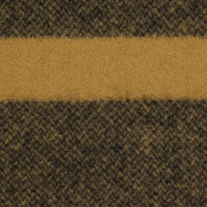 ウール×ボーダー(マスタード&ブラック)×フラノ(フランネル)_パネル イメージ1