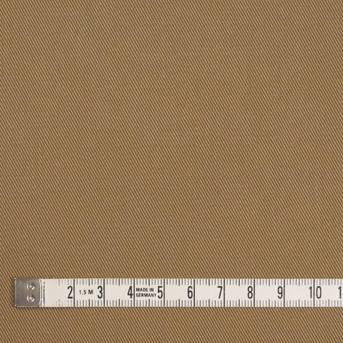 コットン&ポリエステル×無地(カーキベージュ&アプリコット)×シャンブレーチノクロス_全5色 イメージ4